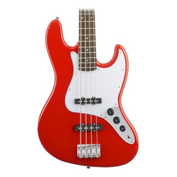 Bajo Fender Squier Jazz Bass Race Color Rojo