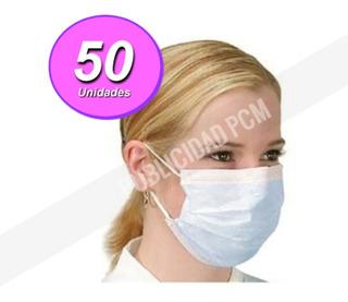 Mascarillas Tapa Boca Nariz 50 Unids C/ Filtro Antibacterial