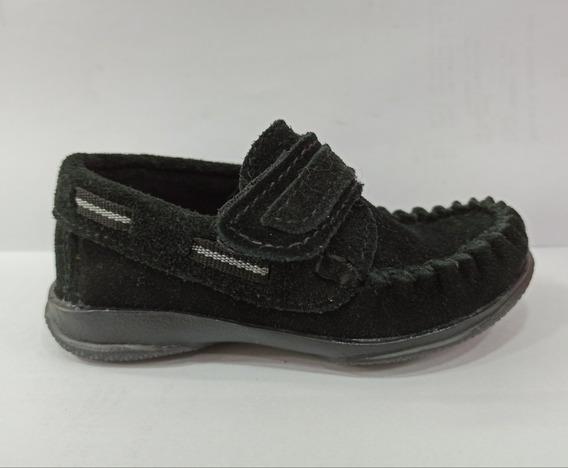 Zapatos Mocasín Náutico Cuero Vacuno Unisex C/abrojo 19-26