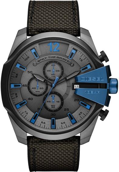 Relógio Diesel Masculino Mega Chief Analógico Dz4500/8cn