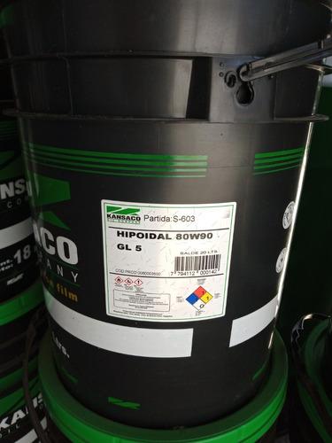 Aceite 80w90 Hipoidal Gl5 Balde 20lt Kansaco