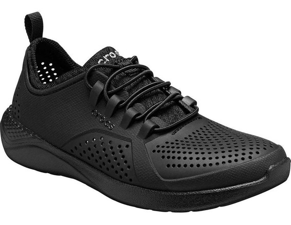 Zapato Acuatico Unisex Crocs Literide Pacer K Negro 22-24 T4