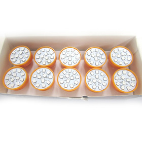 Caixa Com 10 Lâmpadas Led 1 Polo 1141 - 12 Leds Laranja