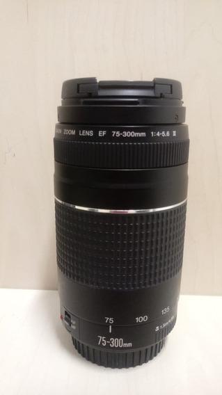 Lente Canon - Ef 75-300 Mm - F/4 - 5.6 Iii - Nova