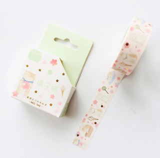 Cinta Washi Tape Decorativa Importada Scrapbook Cute Gatitos
