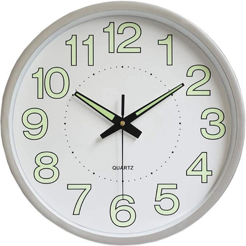 Reloj De Pared,30 Cm Grande Moderno Luminoso Reloj De Pared