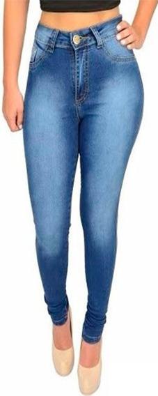 Kit 3 Calça Jeans Feminina Hot Pants Cintura Alta Com Lycra