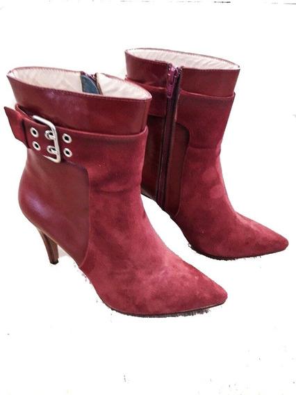Calzado Botas De Mujer Marca Espiritu Santo Desing Gamuza
