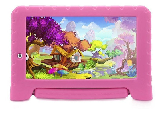 Tablet Multilaser Kids Pad Nb279 Pink Tela 7 Wi-fi 8gb