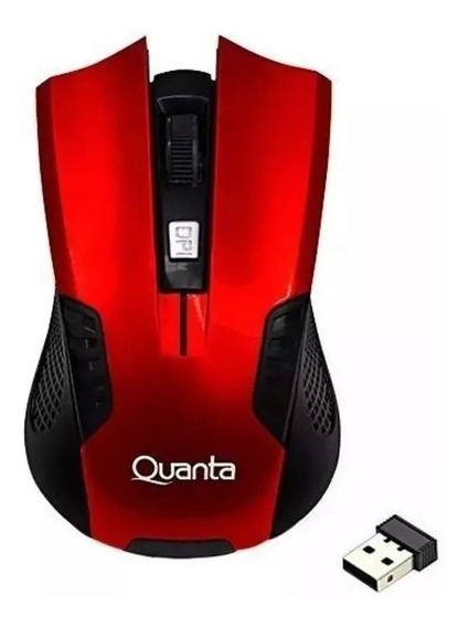 Mouse Gamer Wireless Quanta Usb- Vermelho S/fio O Melhor