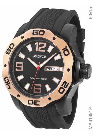 Relógio Magnum Masculino Preto Ma31891p