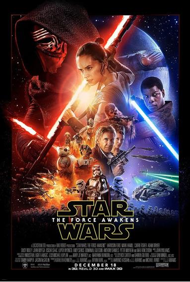 Posters Cine Star Wars The Force Awakens Peliculas 45x30 Cm