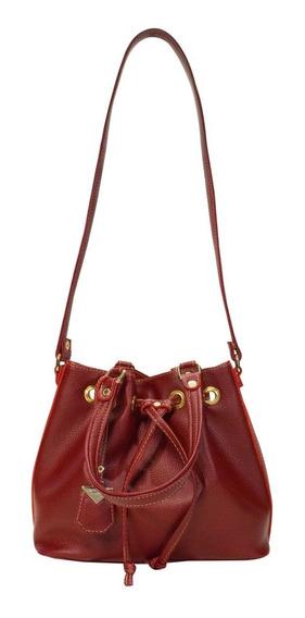 Bolsa Feminina Monica Sanches 3420 Canguru Berry Premium