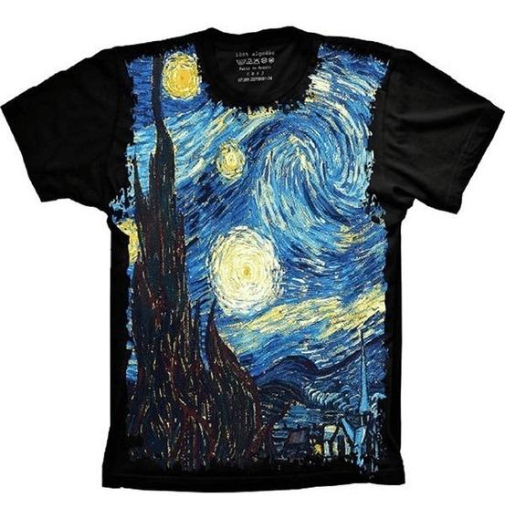 Blusa Fem. 5%off Divertida A Noite Estrelada Van Gogh