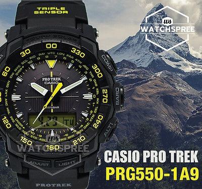 Relogio Casio Pro Trek Prg-550 Termometro Bussola Original !