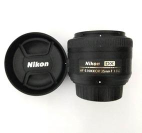 Lente Usada Nikon Af-s Nikkor 35mm F/ 1.8 G Dx Quase Nova