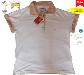 Golf Play Camisa Polo Feminina Cor Bege E Rosa Nude