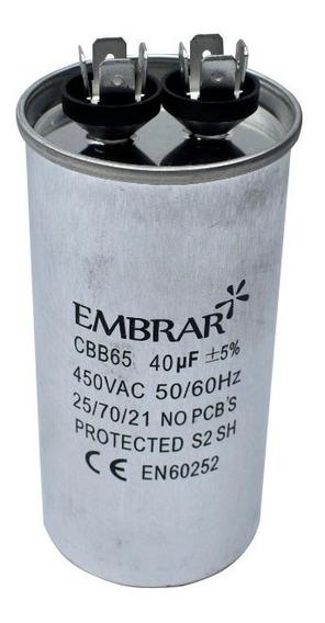 Capacitor Permanente 40uf 450v Alumínio