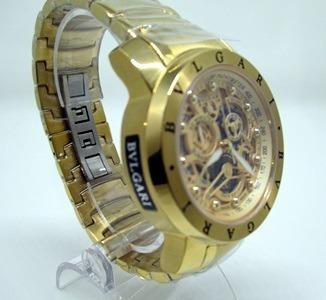 Relógio Masculino Bulgari Dourado