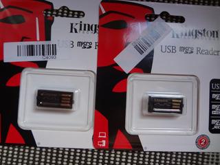Micro Sd Leitor De Cartão Kingston + 2 Pendrive Sandisk