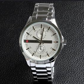 Oferta. Relógio Curren Masculino. Pulseira De Aço. Original.