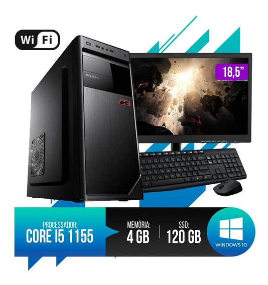 Pc Completo Core I5 4gb Ram Hd Ssd 120gb Monitor 18,5 Led.
