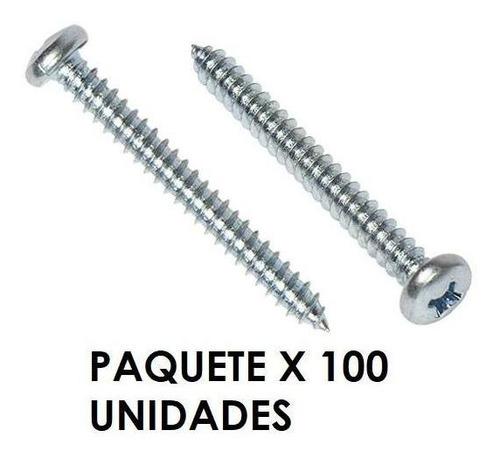 Tornillo Metal Cabeza Redonda 10 X 1-1/2 Pulgada X 100 Unida