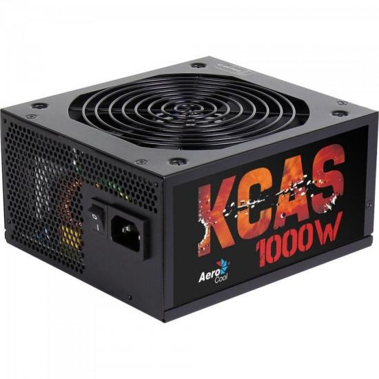 Fonte Atx Kcas 1000w Modular Full Range 80 Plus Bronze Pfc A + Nota Fiscal