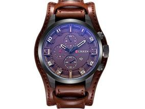 Relógio Curren Marrom 8225 A Pronta Entrega - Frete Grátis