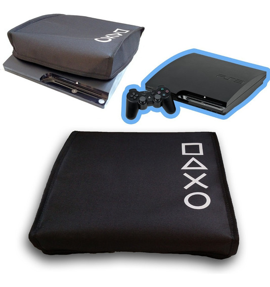 Capa Ps3 Slim Antipoeira Playstation Protetora Console Case