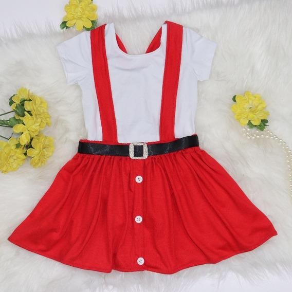 Jardineira Infantil - Natal - Baby Mini Diva (1 Peça)