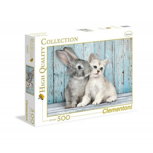 Puzzle Rompecabeza Clementoni X 500 Piezas Gato-conejo 3504