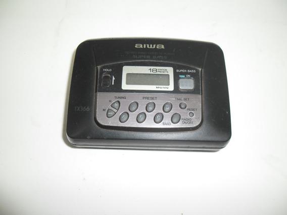 Walkman Aiwa Tx366 Toca-fita Não Funciona Leia O Anúncio
