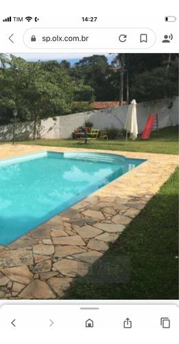 Chácara Completa Com 5540 M2 Com Casa, Salão,piscina, Campo