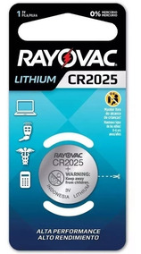6pç Bateria Pilha Botao Cr2025 Rayovac 3v Lithium Placa Mae