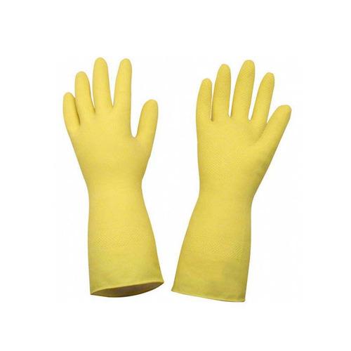 Imagem 1 de 2 de Luva Latex Amarela Top C/ Forro Tam G (par) Sanro