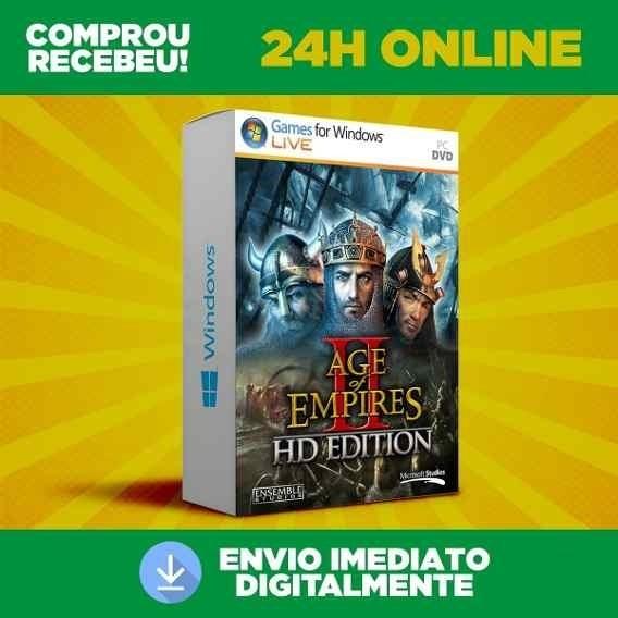Age Of Empires 2 Para Computador Pc Mídia Digital + Brinde