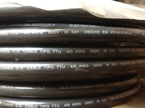 Cable Ttu4/0 Marca Elecon 100%cobre
