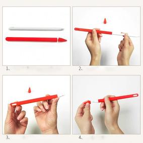 Capa Silicone + Case Protetora P/ Apple Pencil 2 Geração 2nd