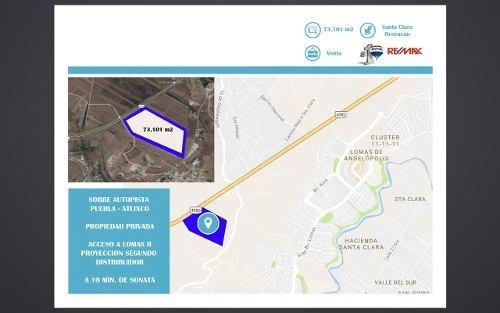 Gran Terreno Sobre La Autopista Puebla- Atlixco