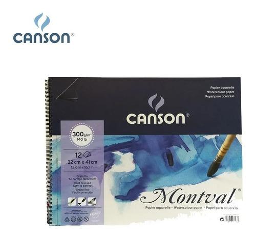 Album Canson Montval 300 Grs Grano Fino 32 X 41 Cm