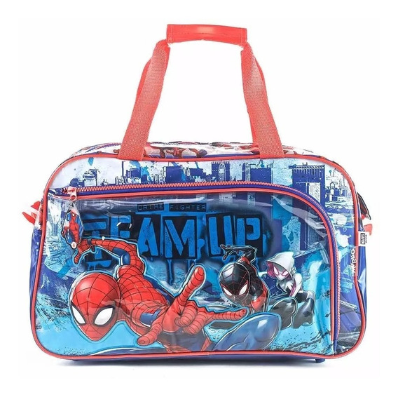 Bolso Playero Spiderman Wabro 11217 Original Educando
