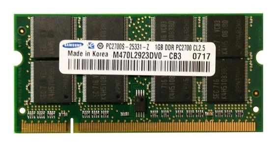 Memória Notebook Samsung 1gb Ddr Pc2700 333 Mhz