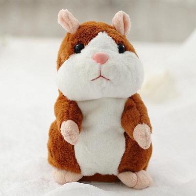Hamster Falante Marrom- Brinquedo Educativo 15cm