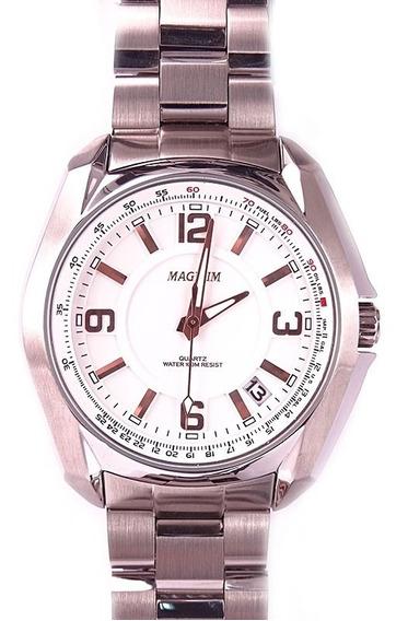 Relógio Magnum Masculino Original Prateado Ma32041z