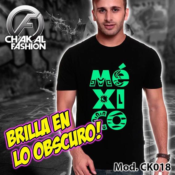 Playera México Hor Brilla En Lo Obscuro Ck019