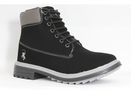 Imagen 1 de 4 de Calzado Bota Casual Confort Para Hombre Polo Club Negro