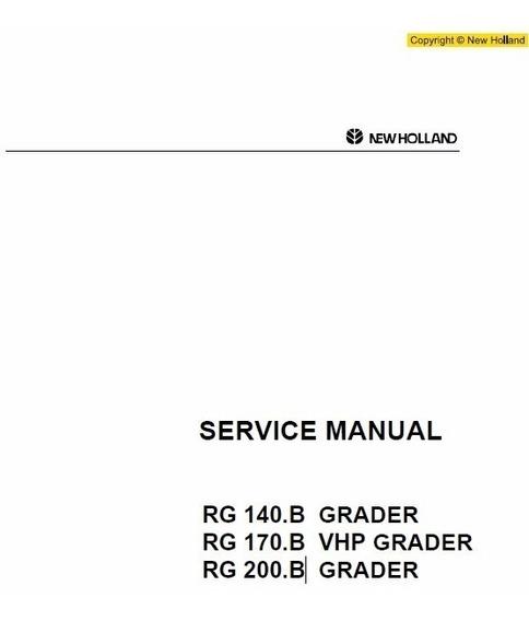 Manual De Serviço - New Holland - Rg140b - Rg170b - Rg200b