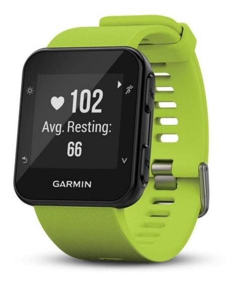 Relógio Esportivo Garmin Forerunner 35 Verde Com Medição