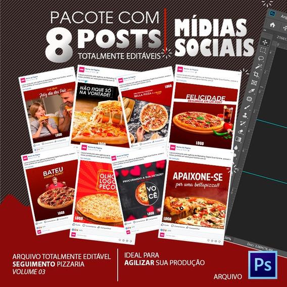 Post Para Redes Sociais Editável - Pizzaria - Vol. 03